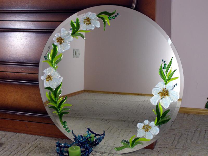 Как декорировать зеркало своими руками фото