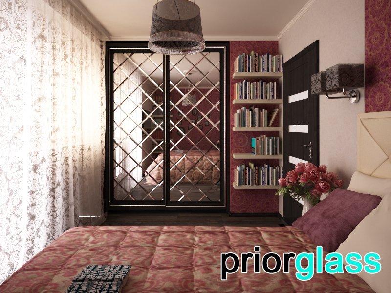 Фацет на стеклянных дверях - фото