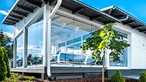 светопрозрачные конструкции из алюминиевого профиля для террас